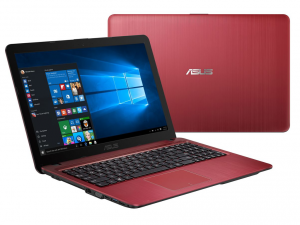 ASUS 15,6 HD X540SA-XX154T - Piros - Windows® 10 64bit Intel® Celeron® N3050 (2M Cache, up to 2.16 GHz), 4GB, 500GB, Intel® HD graphics, Fényes kijelző