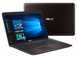 ASUS 17,3 HD+ X756UV-TY133D - Sötétbarna Intel® Core™ i3-7100U /2,40GHz/, 4GB 2133MHz, 1TB HDD, DVDSMDL, Nvidia® 920MX 2GB, Wifi, Bluetooth, Webkamera, FreeDOS, Fényes kijelző