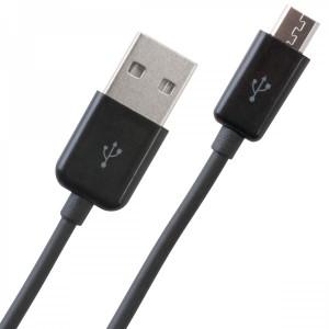 Micro USB - USB adatkábel fekete 1 méter