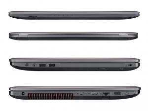 ASUS 17,3 UHD GL752VW-T4207D - Sötétszürke Intel® Core™ i7-6700HQ /2,60GHz - 3,50GHz/, 8GB 2133MHz, 1TB HDD, DVDSMDL, Nvidia® GTX 960M 4GB, Wifi, Bluetooth, Webkamera, FreeDOS, Háttérvilágítású billentyűzet, Matt kijelző