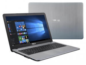 ASUS 15,6 HD X540SA-XX079T - Ezüst - Windows® 10 Home Intel® Pentium® Quad Core™ N3700 /1,60GHz - 2,40GHz/, 4GB 1600MHz, 500GB HDD, DVDSMDL, Intel® HD graphics, Wifi, Bluetooth, Webkamera, Windows® 10 Home, Fényes kijelző