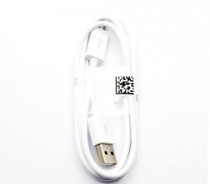Micro USB - USB adatkábel Fehér 1 méter