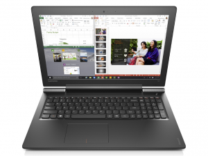 Lenovo Ideapad 15,6 FHD IPS LED 700 - 80RU00FNHV - Fekete Intel® Core™ i7-6700HQ /2,60GHz - 3,50GHz/, 8GB 2133MHz, 1TB HDD, NVIDIA® GeForce® GTX950M 4GB, Wifi, Bluetooth, Webkamera, Háttérvilágítású billentyűzet, FreeDOS, Matt kijelző