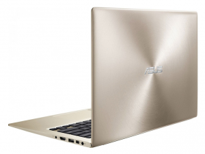 ASUS 13,3 FHD UX303UA-R4155T - Arany - Windows® 10 64bit Intel® Core™ i5-6200U - 2,30GHz, 8GB, 256GB SSD, Intel® HD Graphics 520, Háttérvilágítású billentyűzet, Sleeve & Cable, Matt kijelző
