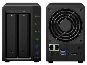 Synology DiskStation DS716+II 2-lemezes NAS (4×1,6-2,24 GHz CPU, 2 GB RAM)