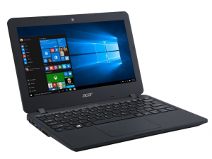 Acer TravelMate 11,6 HD TMB117-M-P345 - Fekete Intel® Pentium® Quad Core™ N3710 /1,60GHz - 2,56GHz/, 4GB 1600MHz, 128GB SSD, Intel® HD Graphics, WiFi, Bluetooth, HD Webkamera, Boot-up Linux, Matt kijelző
