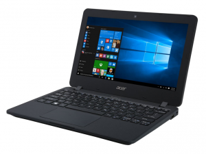 ACER TRAVELMATE TMB117-M-C79E 11.6 HD, Intel® CELERON N3150, 4 GB, 500 GB HDD, NO OS, FEKETE