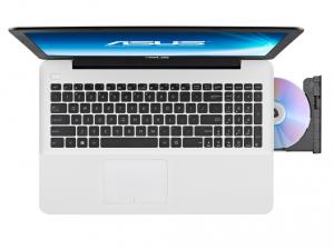 ASUS 15,6 HD X555UA-XX158D - Fehér Intel® Core™ i5-6200U /2,30GHz - 2,80GHz/, 4GB 1600MHz, 500GB HDD, DVDSMDL, Intel® HD Graphics 520, Wifi, Bluetooth, Webkamera, FreeDOS, Fényes kijelző