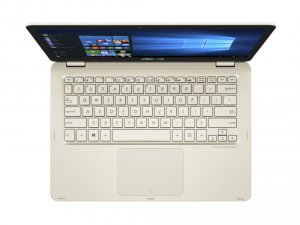 ASUS 13,3 FHD Touch UX360CA-C4010T - Arany - Windows® 10 Home Intel® Core™ m3-6Y30 /0,90GHz - 2,20GHz/, 4GB 1866MHz, 128GB SSD, Intel® HD Graphics 515, Wifi, Bluetooth, Webkamera, Windows® 10 Home, Sleeve & cable, Fényes kijelző, Touch