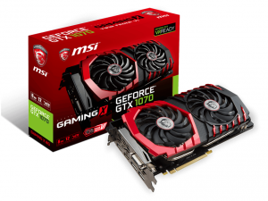 MSI PCIe NVIDIA GTX 1070 8GB GDDR5 - GeForce GTX 1070 GAMING X 8G