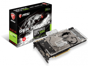 MSI PCIe NVIDIA GTX 1080 8GB - GeForce GTX 1080 SEA HAWK EK X
