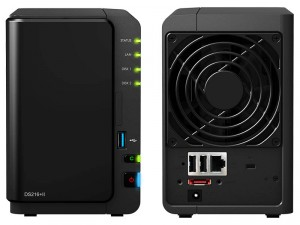 Synology DiskStation DS216+II 2-lemezes NAS (2×1,6-2,48 GHz CPU, 1 GB RAM)