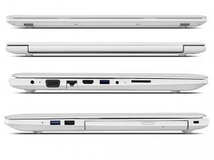 Lenovo Ideapad 15,6 FHD IPS LED 510 - 80SV009PHV - Fehér Intel® Core™ i7-7500U /2,70GHz - 3,50GHz/, 8GB 2133MHz, 1TB HDD, DVDSMDL, NVIDIA® GeForce® 940MX / 4GB, Wifi, Bluetooth, Webkamera, Háttérvilágítású billentyűzet. FreeDOS, Matt kijelző