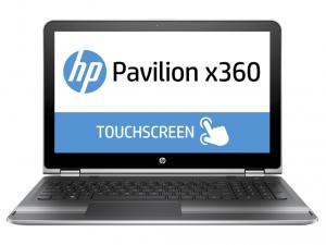 HP Pavilion x360 15-BK004NH, 15.6 FHD AG Intel® Core™ i5 Processzor 6200U, 8GB DDR4, 1TB, Nvidia GF 930M 2GB, WIN10, Természetes ezüst (216451)