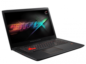 ASUS 17,3 FHD LED GL702VT-GC026T - Fekete - Windows® 10 Home Intel® Core™ i7-6700HQ /2,60GHz - 3,50GHz/, 8GB 2133MHz, 1TB HDD, Nvidia® GTX970M 3GB, Wifi, Bluetooth, Webkamera, Háttérvilágítású billentyűzet, Windows® 10 Home, Matt kijelző