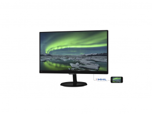 PHILIPS AH-IPS MONITOR 23, 237E7QDSB/00 1920X1080, 16:9, 1000:1, 250 CD/M2, 5MS, VGA/DVI-D, FEKETE