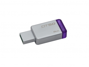 Kingston DataTraveler 50 - 8GB USB3.0 - Ezüst/Lila (DT50/8GB)
