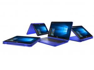 DELL INSPIRON 3168 2IN1 11.6 HD, Intel® PENTIUM N3710 (2.56 GHZ), 4GB, 128GB WIN 10 KÉK