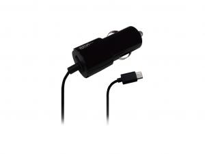 Azuri autós töltő USB-C - Fix Kábel + Extra USB