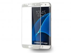 AZURI képernyővédő - Edzett üveg - Edge2Edge - Samsung Galaxy S7 edge - Fehér