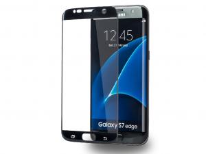 AZURI képernyővédő - Edzett üveg - Edge2Edge - Samsung Galaxy S7 edge - Fekete