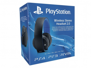 Sony Playstation 4 (PS4) Headset Wireless Stereo 2.0, fekete