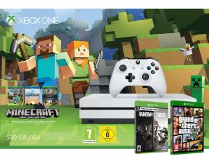 Xbox One S 500GB + GTA V + Minecraft + Rainbow Six Siege