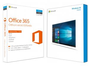 Windows 10 Home (otthoni) + Office 365 otthoni (5 személyes verzió)
