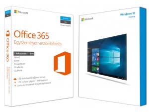 Windows 10 Home (otthoni) + Office 365 (Egyszemélyes verzió)