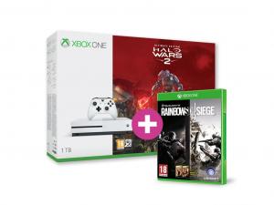Microsoft Xbox One S (Slim) 1TB + Halo Wars 2 Ultimate Edition Játékkonzol + Rainbow Six Siege