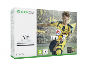 Microsoft Xbox One S (Slim) 1TB Játékkonzol+ FIFA 17 Játékprogram