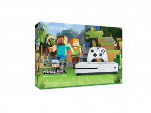 Microsoft Xbox One S 500GB gépcsomag + Minecraft Játék Fehér