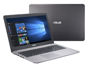 ASUS 15,6 FHD K501UX-DM078T - Metálszürke - Windows® Home Intel® Core™ i7-6500U /2,50GHz - 3,10GHz/, 8GB 1600MHz, 1TB HDD, Nvidia® GTX 950M 4GB, Wifi, Bluetooth, Webkamera, Windows® Home, Háttérvilágítású billentyűzet, HDMI to VGA Cable, Matt kijelző