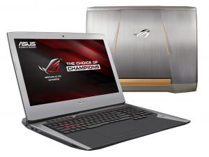 ASUS 17,3 FHD G752VT-GC046T - Szürke - Windows® 10 64bit Intel® Core™ i7-6700HQ (6M Cache, up to 3.50 GHz), 8GB, 1TB (7200), Nvidia® GTX 970M 3GB, Háttérvilágítású billentyűzet, Matt kijelző