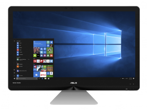Asus 27 FHD Multi-Touch ZN270IEGT-RA012T - Szürke - Windows® 10 64bit Intel® Core™ i5-7400T /2,40GHz - 3,00GHz/, 8GB 2133MHz, 1TB HDD + 128GB SSD, NVIDIA® GeForce® GT940MX 2GB, Wifi, Bluetooth 4.0, Zen Vezetéknélküli Billenyűzet + Egér - All in One PC