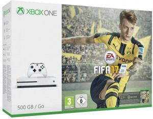 Microsoft Xbox One S (Slim) 500GB + FIFA 17 Játékkonzol