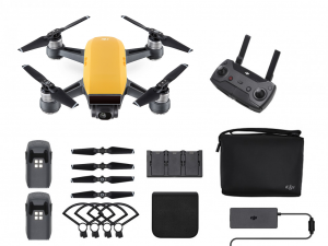 DJI Spark - Sunrise Yellow - Fly More Combo - drón