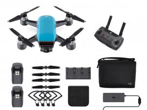 DJI Spark - Sky Blue - Fly More Combo - drón