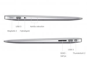 Apple 13,3 MacBook AIR MQD42MG/A - Intel® Core™ i5-1 Processzor.8GHz / 8GB / 256GB SSD, Intel® HD 6000, Háttérvilágítású billentyűzet - 2017-ES MODELL!