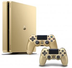 Playstation 4 (PS4) Slim 500GB Arany LIMITÁLT KIADÁSÚ gépcsomag- 2 darab Wireless DualShock 4 Arany kontrollerrel