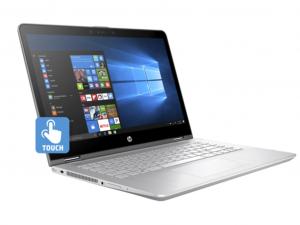 HP PAVILION X360 14-BA019NH, 14.0 FHD BV TOUCH Intel® Core™ i3 Processzor 7100U,4GB,128GB SSD, Intel® HD630, ÁSVÁNYEZÜST, WIN10, 3 ÉV