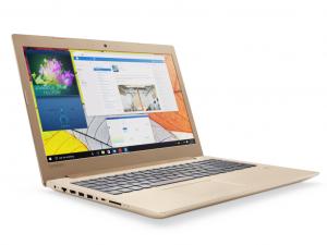 Lenovo Ideapad 520 15,6 FHD IPS - 80YL00A9HV - Arany Intel® Core™ i5 Processzor-7200U, 4GB, 1TB HDD, DVDSMDL, NVIDIA® GeForce® 940MX 4GB, WiFi, Bluetooth, Webkamera, Háttérvilágítású billentyűzet, Ujjlenyomat olvasó, FreeDOS,
