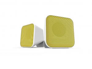 Speedlink SNAPPY Stereo hangszóró, Fehér-sárga