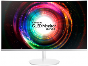 Samsung 27 - C27H711QEU - ívelt kijelzős fehér-ezüst monitor