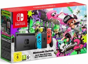 Nintendo Switch Neon - Játékkonzol + Splatoon 2 Játékszoftver