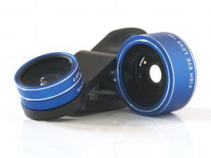Quazar Mobil lens 3X - QZR-ML01 - kék - Mobil halszem optika