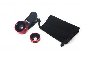 Quazar Mobil lens 3X - QZR-ML01 - Piros - Mobil halszem optika
