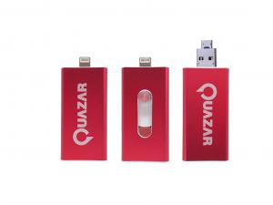 Quazar i-Storer, 64Gb - Külső memória Apple termékekhez - Piros - Pendrive