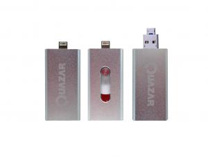 Quazar i-Storer, 64Gb - Külső memória Apple termékekhez - Ezüst - Pendrive