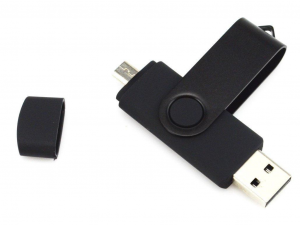 Quazar - 2in1 Smart Pendrive - 16GB - fekete